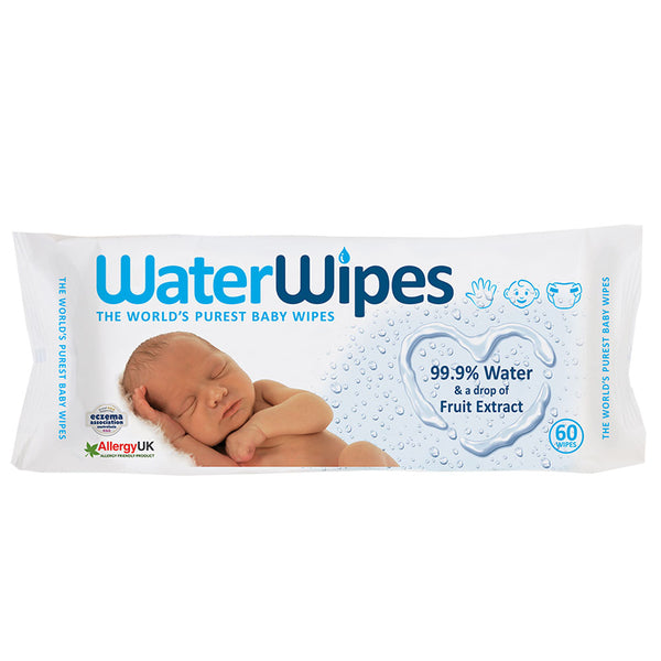 Individual packet Water Wipes  (60 wipes)