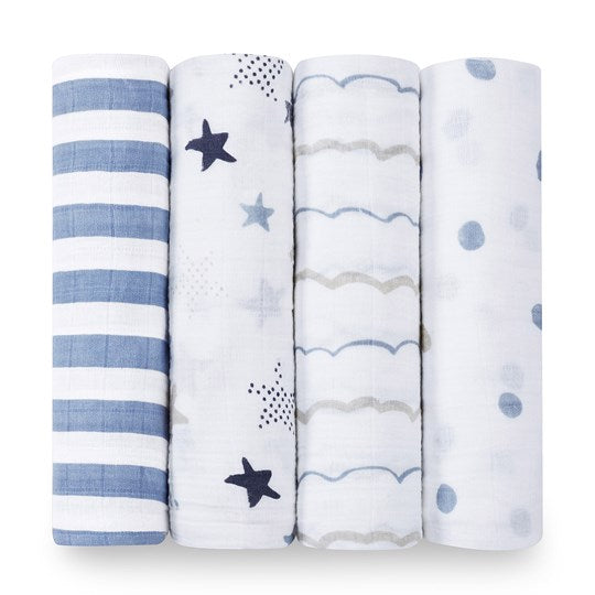 4 Pack Swaddles Classic Rock Star