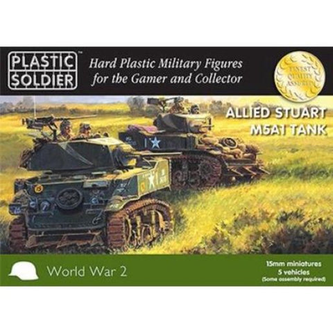 Plastic Soldier - Allied Stuart M5A1 Tank - 15mm - WW2V15021