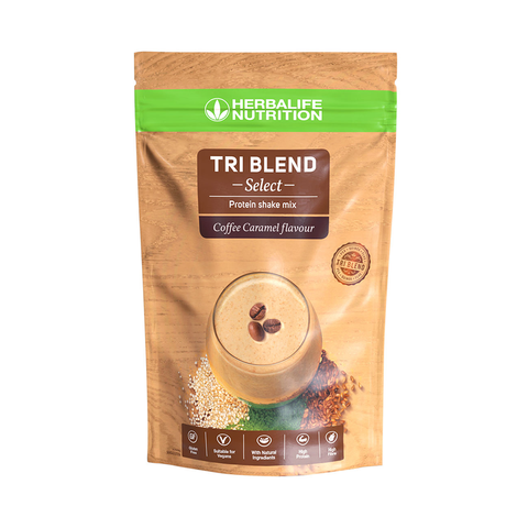 Herbalife - Tri Blend Select - Preparato proteico solubile in acqua Coffee caramel 600 g