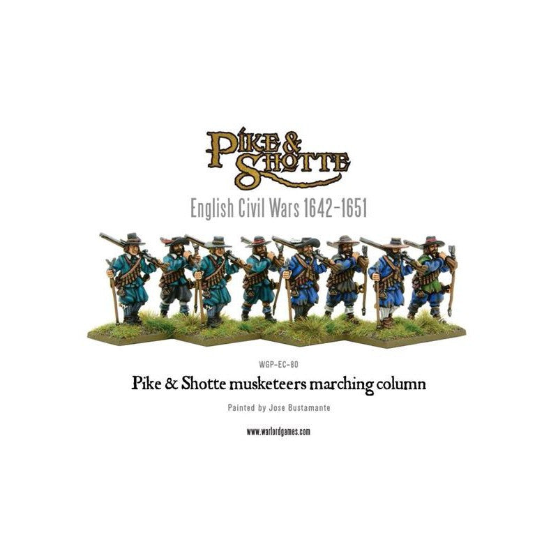 Warlord Games - Pike & Shotte - Musketeers Marching Column - 28mm