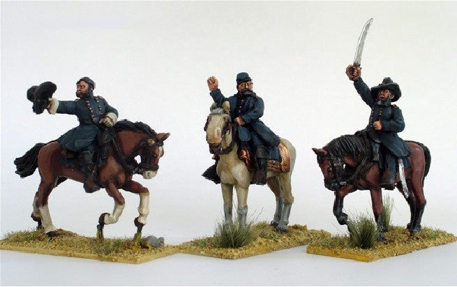 Perry - ACW3 - Union Generals mounted - 28mm