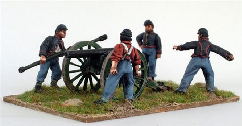 Perry - ACW17 - Union Artillery firing piece - 28mm