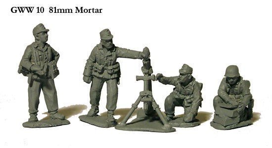 Perry - GWW10 - German 81mm Mortar and four crew - 28mm