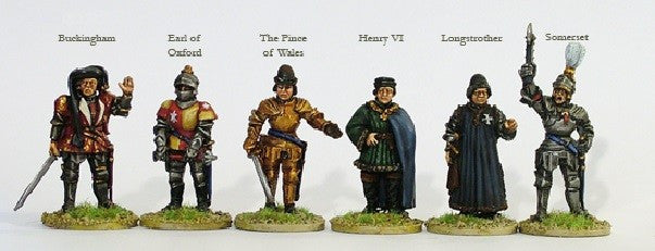 Perry WR12 - Lancastrian command on foot - 28mm