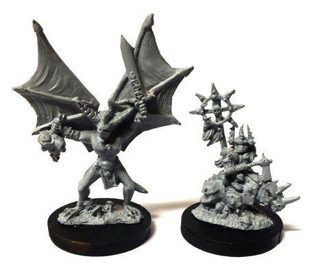 Warmaster - Daemons Characters of khorne - 10mm