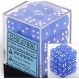 Chessex - Frosted - Blue/white Dice Block (12mm)