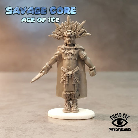 Lucid Eye LI-IAB003 - Ice Age Jaguar Tribe Boss High Blood Priest Skull Cloud