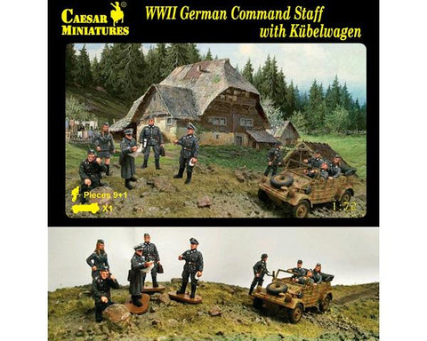 Caesar miniatures - WWII German command staff with Kubelwagen - 1:72