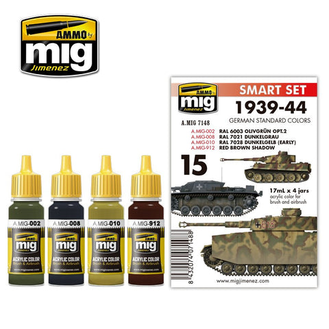 Ammo of Mig - 1939-44 German standard colors (4 jars x 17ml)
