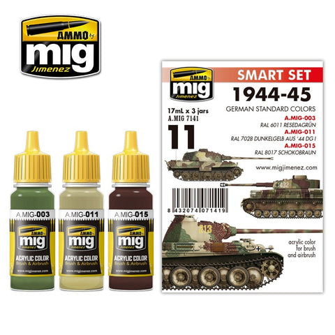Ammo of Mig - 1944-45 German standard colors (3 jars x 17ml)