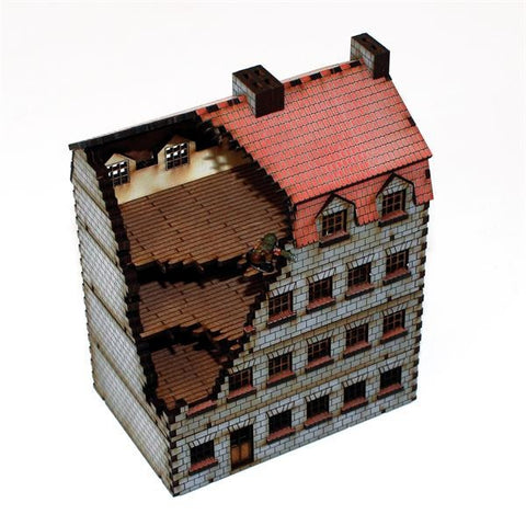 4GROUND -  15S-EAW-102D - Damaged bank/apartments - 15mm