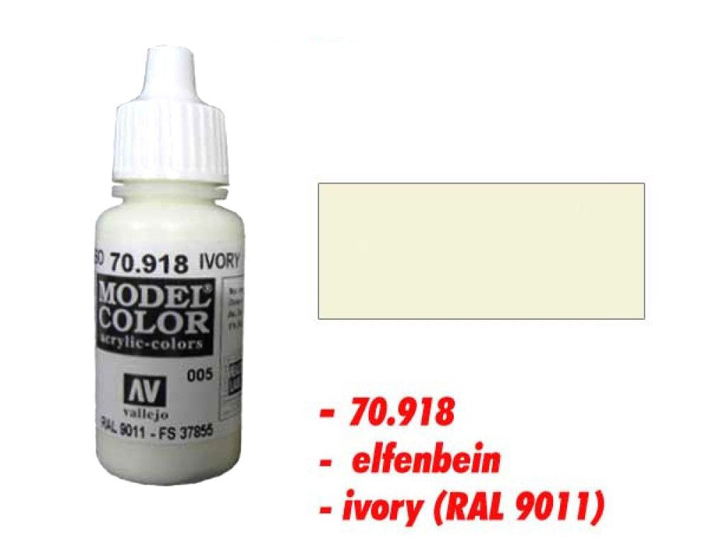 Vallejo Color - 70918 - Ivory - 005 - 17ml