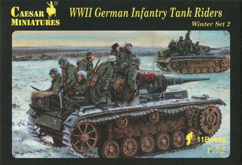 Caesar miniatures - WWII German infantry tank riders (winter set 2) - 1:72
