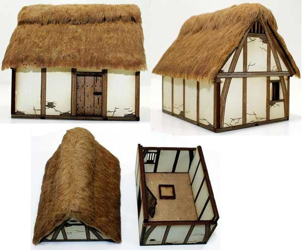 4GROUND - Late saxon/High medieval hovel - 28mm - 28S-DAR-102