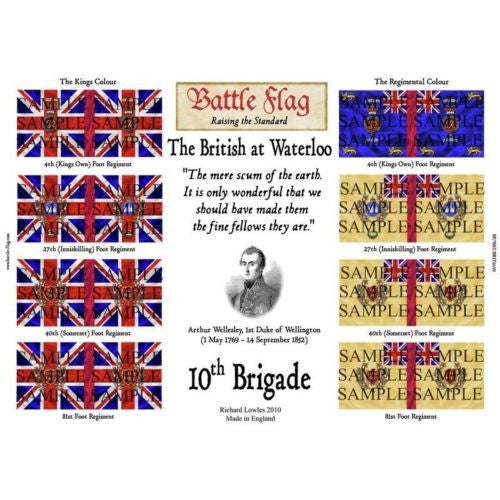 Battle Flag - The 10th Brigade (Napoleonic War) - 28mm