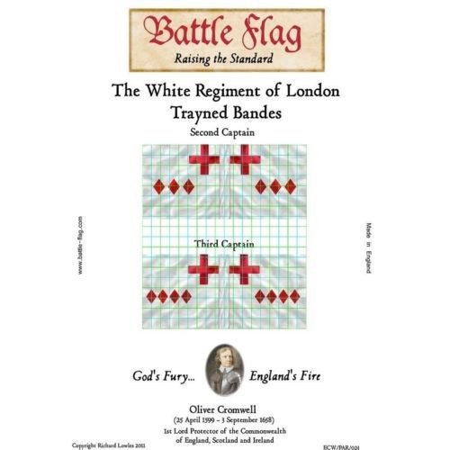 Battle Flag - The White Regiment of London Trayned Bande B - 28mm