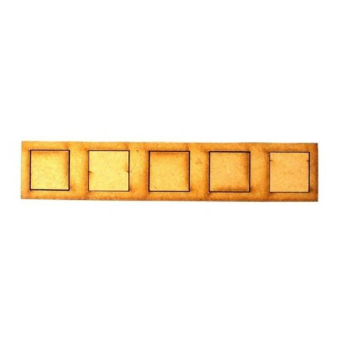 Movement Trays in MDF (2,9cm x 15cm) 5 SLOT (20mm)