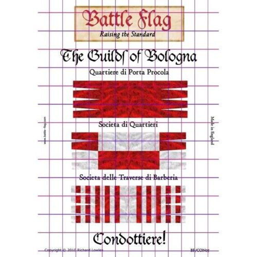 Battle Flag - Bologna Guilds Plate II (Renaissance ) - 28mm