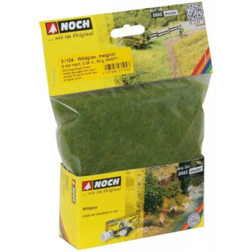 Noch 07104- Wild grass bright green (6mm - 50gr.)