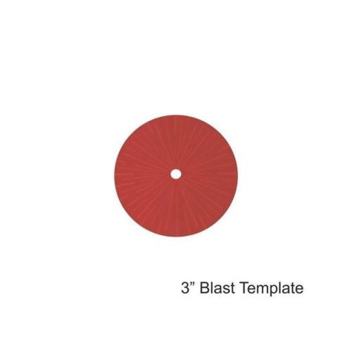 "4GROUND - Red 3"" Blast Template - MG-TAM-117R"