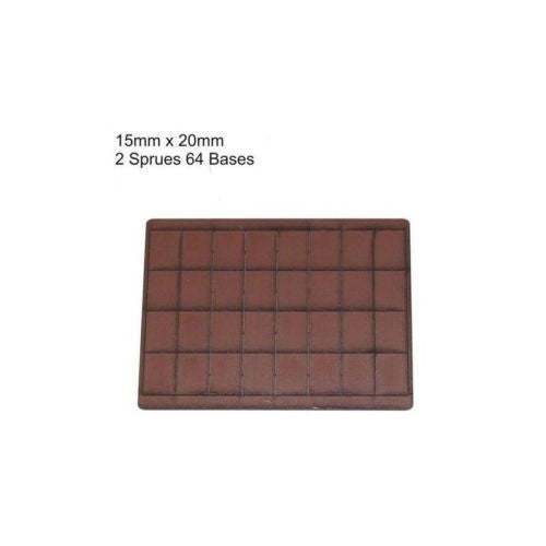 4GROUND - Brown primed bases 15 x 20 mm (64) - PBB-1520