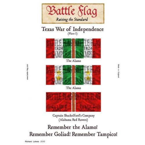Battle Flag - Texas War of Independence Plate I (Texas War of Independence) - 28mm
