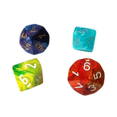 Chessex - 10-sided dice numbered (units) SIGNATURE (16mm) x 4