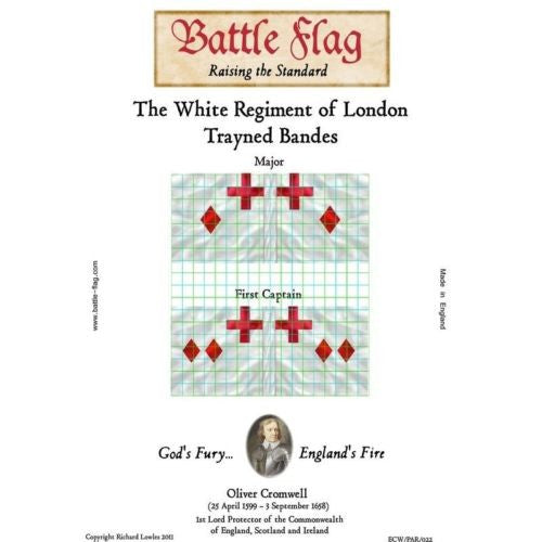Battle Flag - The White Regiment of London Trayned Bande C - 28mm