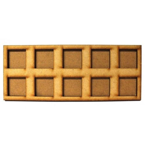 Movement Trays in MDF (7,5cm x 18,8cm) 10 SLOT (25mm)