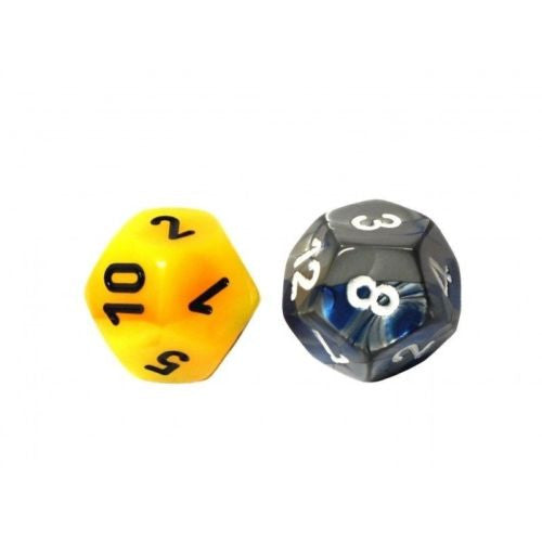 Chessex - 29911 - 12-sided dice numbered (units) GEMINI (16mm) x 2