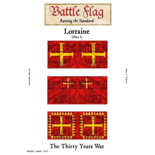 Battle Flag - Duchy of Lorraine Plate I (Thirty Years War) - 28mm