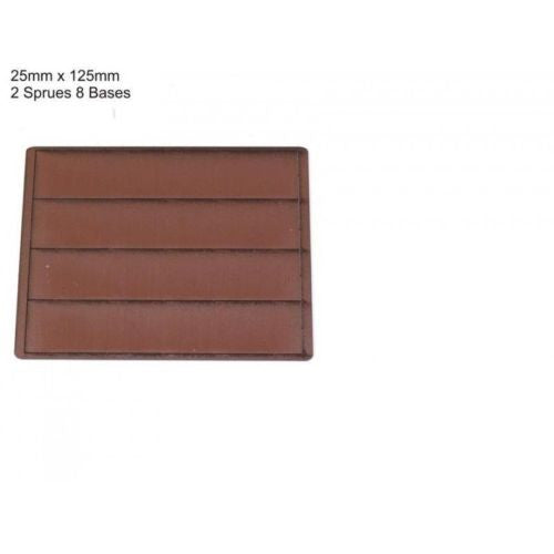 4GROUND - Brown primed bases 25 x 125 mm (8) - PBB-25125