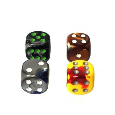Chessex - 6-sided dice GEMINI with rounded corner (16mm) x 4