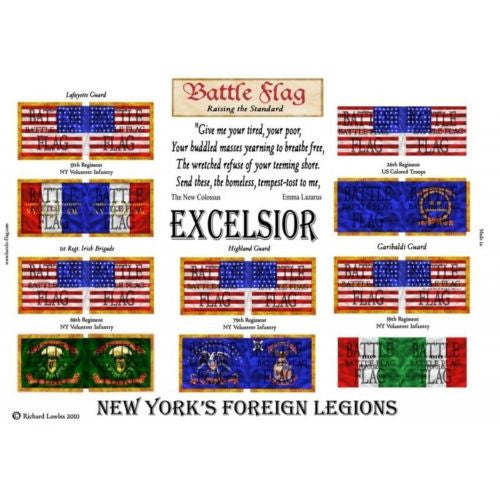 Battle Flag - New York's Foreign Legions (American Civil War) - 15mm