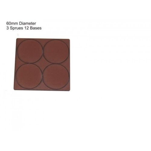 4GROUND - Brown primed bases 60 mm (12) - PBB-60D