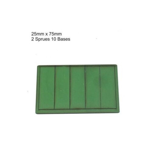 4GROUND - Green primed bases 25x75 mm (10) - PBG-2575