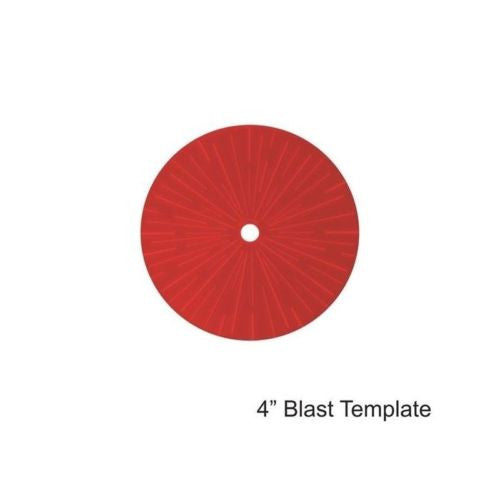 "4GROUND - Red 4"" Blast Template - MG-TAM-118R"