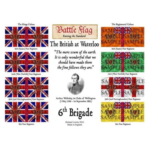 Battle Flag - The 6th Brigade (Napoleonic War) - 28mm