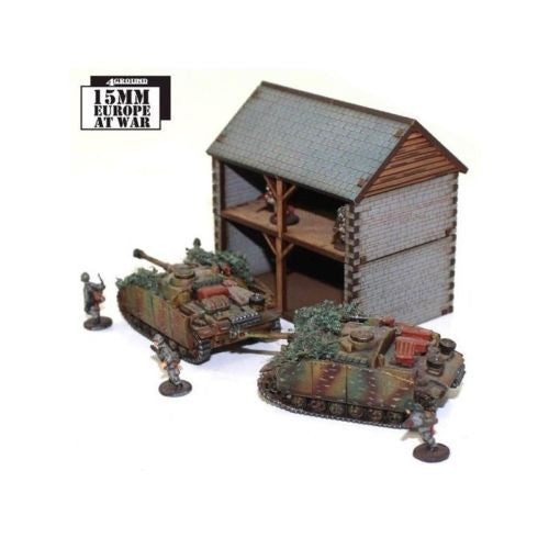 4GROUND - Stone hay loft with cart shed - 15mm - 15S-EAW-117