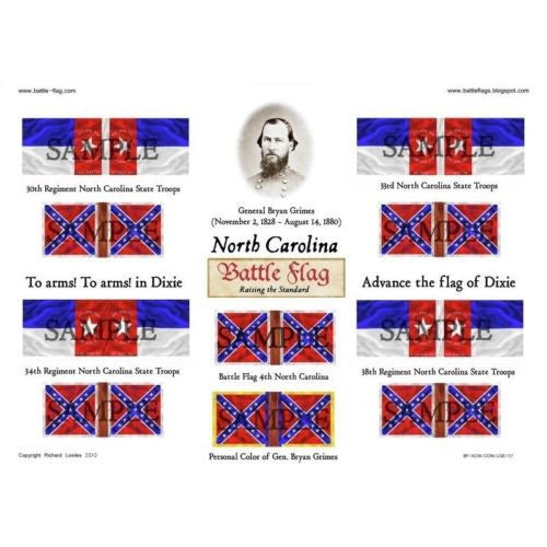 Confederate Flag - North Carolina (American Civil War) - 28mm