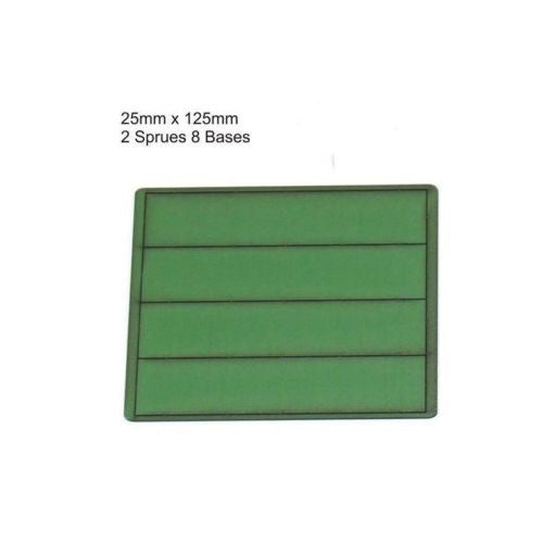 4GROUND - Green primed bases 25x125 mm (8) - PBG-25125