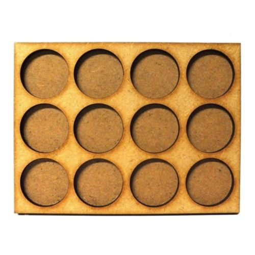 Movement Trays in MDF (11,9cm x 8,9cm) 12 SLOT (circular 25mm diam.)