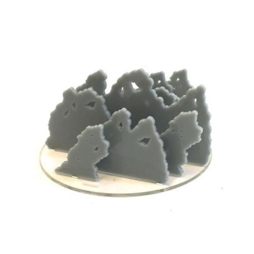 "4GROUND - 6"" Diameter grey smoke acrylic marker - MG-TAM-125E"