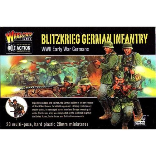 Bolt Action - WGB-WM-02 - Blitzkrieg German infantry (WWII Early war Germans) - 28mm
