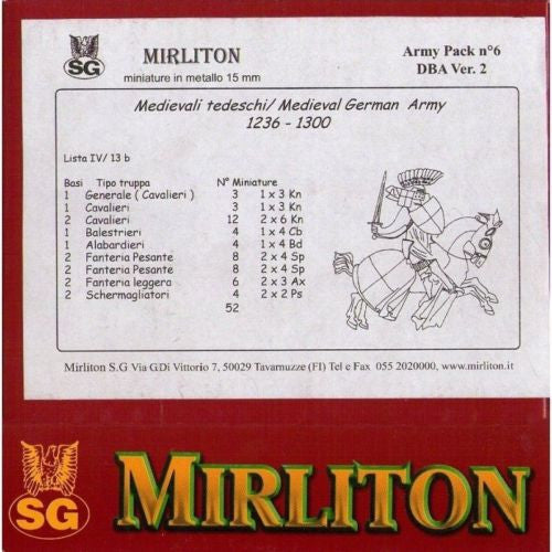Mirliton - Medieval german army 1236-1300 - 15mm