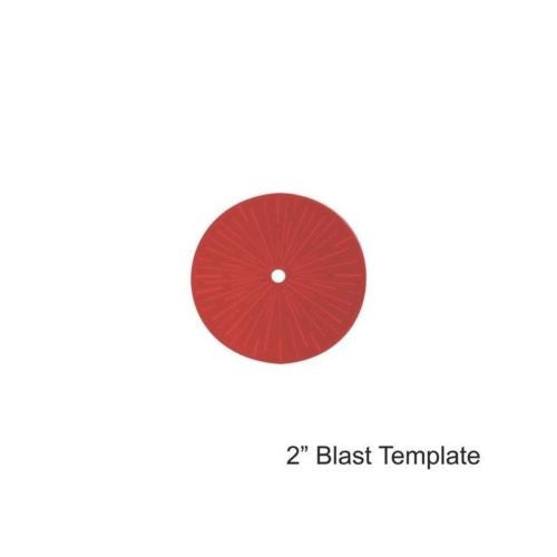 "4GROUND - Red 2"" Blast Template - MG-TAM-116R"