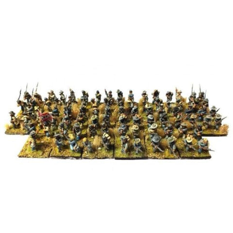 Confederate Infantry (ACW) Painted High quality - 28mm