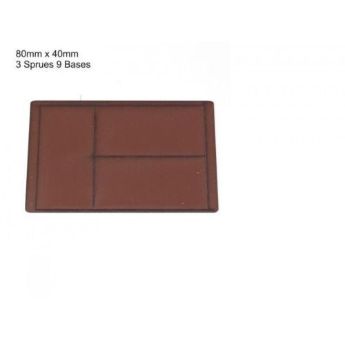 4GROUND - Brown primed bases 80 x 40 mm (9) - PBB-8040