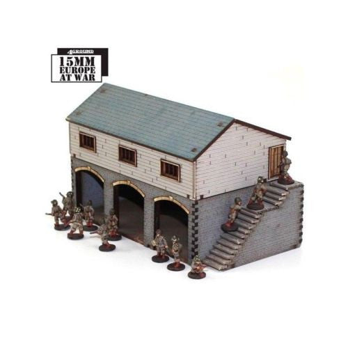 4GROUND - Stone granary & cart shed - 15mm - 15S-EAW-118